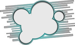 Oval banner Royalty Free Stock Photo