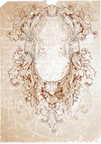 Oval Baroque Frame Stock Photography