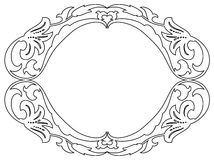 Oval baroque ornamental decorative frame Royalty Free Stock Photo