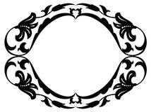 Oval baroque ornamental decorative frame Royalty Free Stock Photos
