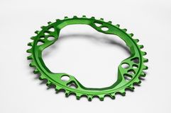 Oval bicycle chainring Royalty Free Stock Image