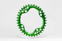 Oval Bicycle chainring Royalty Free Stock Images