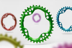 Oval Bicycle chainring Stock Photo