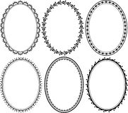 Oval border. Silhouette ornate oval border Stock Photography