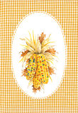 Oval Border with Drawing of Corn Stock Image