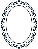 Oval border photo frame deco. Vector simple vertical line  Stock Photography