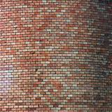 Oval brick wall Stock Photo