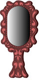 Oval brown mirror Royalty Free Stock Photo