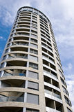 Oval building. Abstract view of a tall oval building Stock Photo