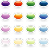 Oval buttons Royalty Free Stock Images