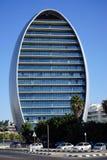 Oval byggnad i Limassol Arkivbilder