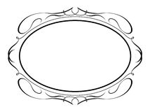 Oval calligraphy penmanship decorative. Vector oval calligraphy ornamental penmanship decorative frame Stock Images
