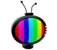 Oval cartoon TV antenna Stock Photography