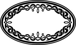 Oval Celtic Ornament Royalty Free Stock Photo