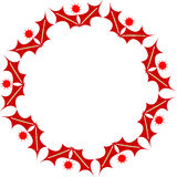 Oval christmas frame Stock Images