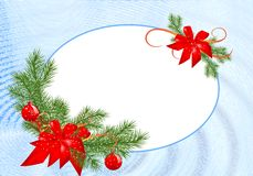 Oval Christmas frame, cdr vector Royalty Free Stock Photos