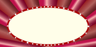 Oval Cinema Style Marquee Stock Photo