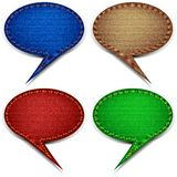 Oval Comments Royalty Free Stock Photography