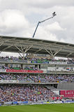 The Oval Cricket Ground. The main grandstand at the world famous Oval Cricket Ground in London, England Stock Photos