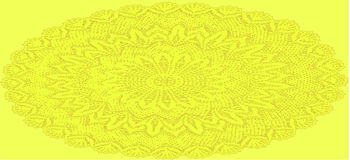 Oval Crochet Doily background Stock Photo