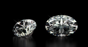 Oval Cut Diamond Royalty Free Stock Photos