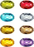 Oval cut stones Stock Photography