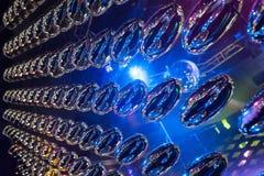 Oval de rolamento do metal espelhado como o fundo abstrato Imagens de Stock Royalty Free