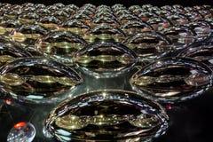 Oval de rolamento do metal espelhado como o fundo abstrato Imagens de Stock