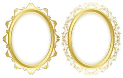 Oval decorative frames - vector set Stock Photo