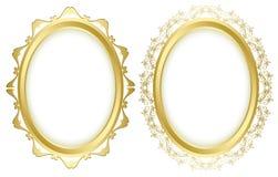 Oval decorative frames - vector set Stock Photo