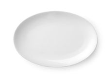 Oval dish Stock Photography