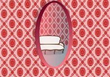 Oval do espelho Imagens de Stock Royalty Free