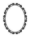 Oval do quadro Imagem de Stock