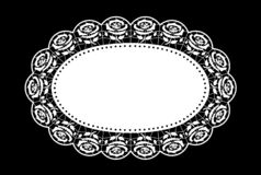 Oval doily lace design place mat vector illustration