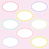 Oval embroidered frames Stock Photos