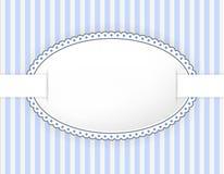 Oval etikett med den prickiga ramen Royaltyfri Fotografi