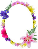 Oval Floral Frame Stock Photography