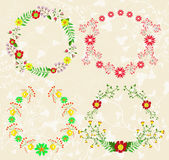 Oval floral frames Royalty Free Stock Photography