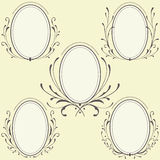 Oval Floral frames ornament Stock Images