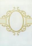 Oval Floral Vintage Frame Stock Image
