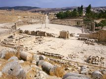 Oval forum of Jerash Royalty Free Stock Photo