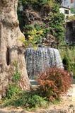 Oval Fountain in Villa Este Stock Photo