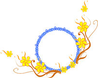 Oval frame. With floral design Stock Photos