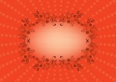 Oval frame Royalty Free Stock Images