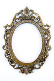 Oval frame. A beautiful oval frame made of metal