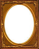 Oval frame. Vintage oval frame gold color Stock Photos