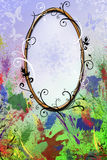 Oval frame Stock Photography
