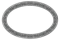 Ancient Greek frame. Stock Images