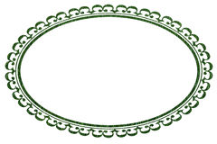 Oval Frame or Border in Grass Texture Royalty Free Stock Photos