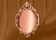 Oval frame with brown background Stock Images